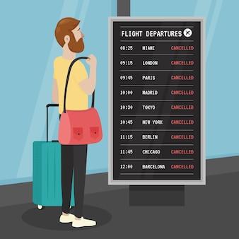 Отменен рейс с человеком