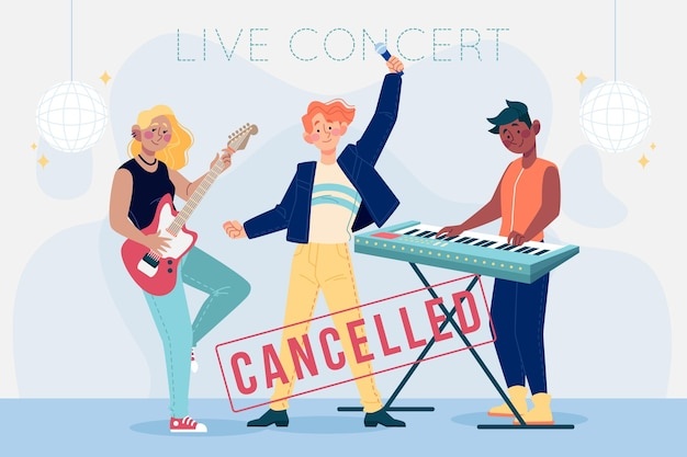 Cancelled music events illustrated