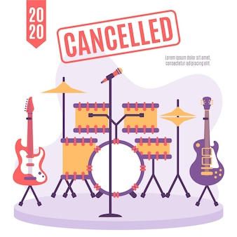 Cancelled musical events concept