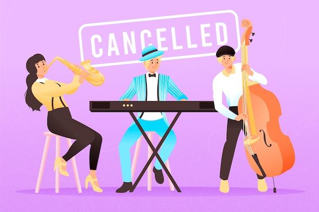 Иллюстрация отмененных музыкальных событий