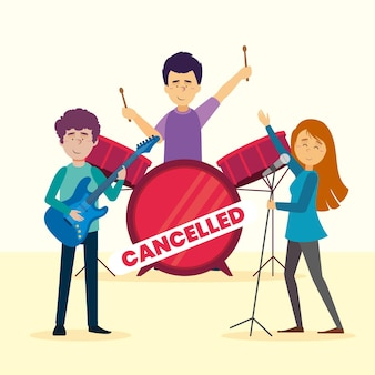 Cancelled musical events with band