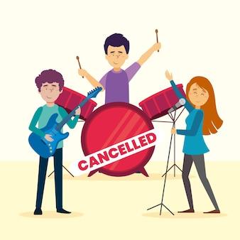 バンドとのキャンセルされた音楽イベント