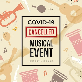 Cancelled musical events with instruments