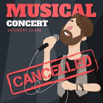 Cancelled musical events with male singer