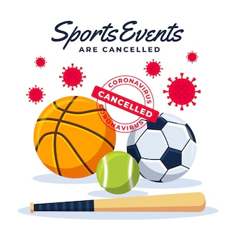Cancelled sport events background