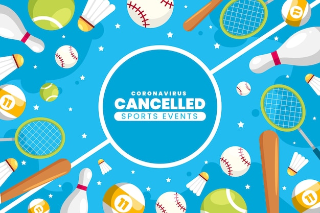 Cancelled sporting events background