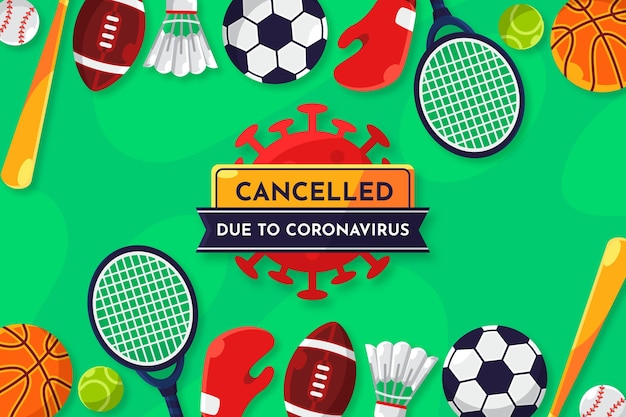 Cancelled sporting events due to coronavirus background