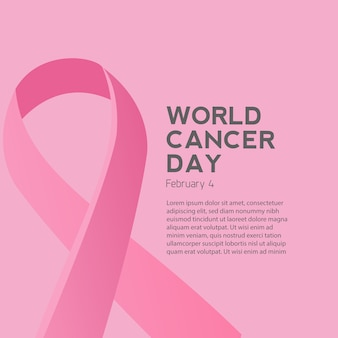 Cancer day and pink ribbon