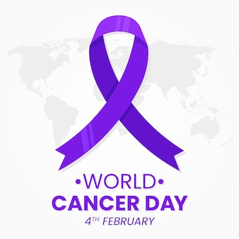 День рака фиолетовая лента на карте мира