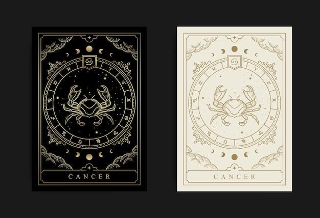 Cancer horoscope and zodiac constellation symbol