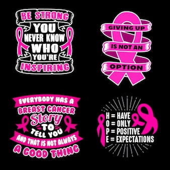 Cancer quote and saying set