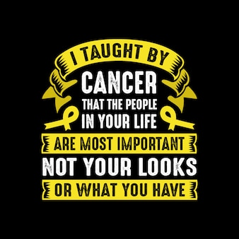 Cancer quote and saying