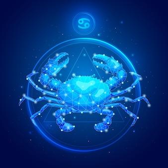 Cancer zodiac sign in circle