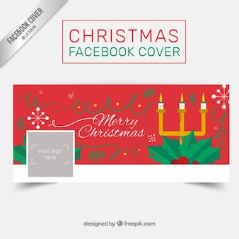 Candelabra christmas facebook cover