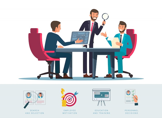Candidates search flat illustration