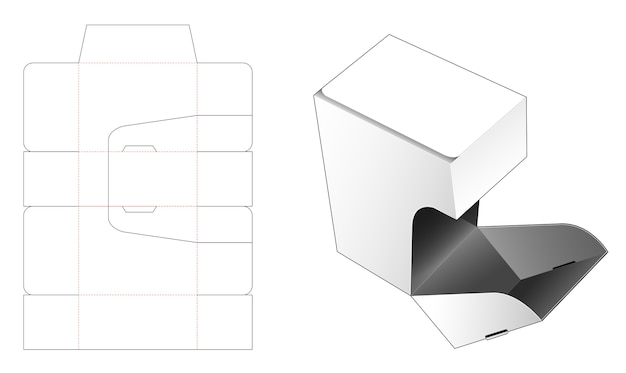 Candies box die cut template