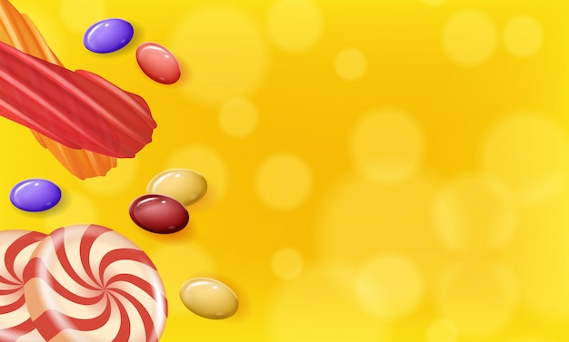 Candies different shapes on