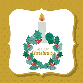 Candle and wreath icon