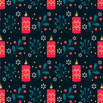 Candle christmas pattern