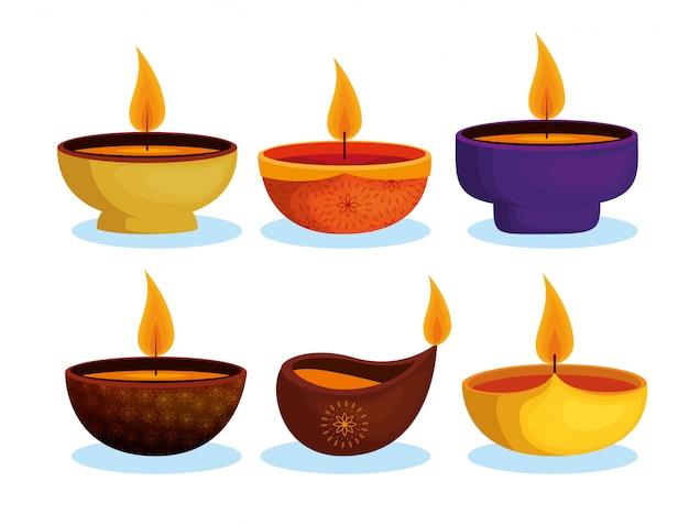 Collezione di candele