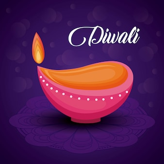 Candle diwali festival