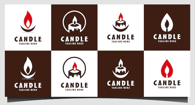흰색 바탕에 촛불 아이콘입니다. 촛불 벡터 로고입니다. 평면 디자인 스타일입니다. 현대 벡터 그림
