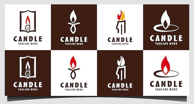 Значок свечи на белом фоне. свеча векторный логотип. плоский стиль дизайна. современные векторные пиктограммы
