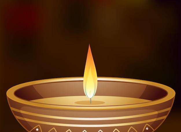 작은 둥근 그릇에 촛불