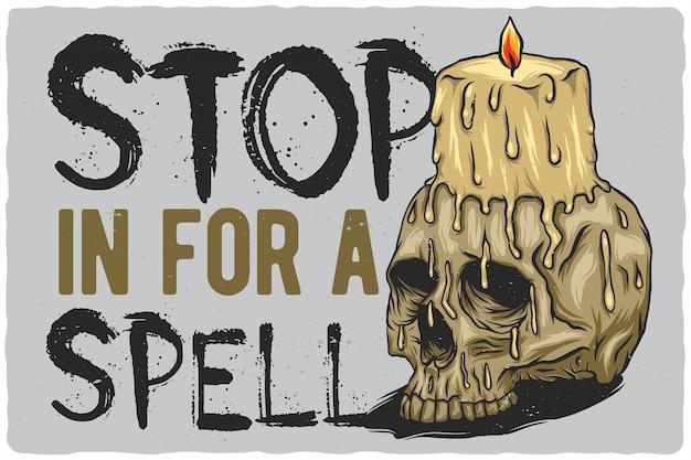 Свеча на черепе