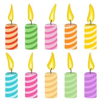 Candle set   illustration isolated on white background