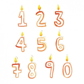 Candle shape numbers