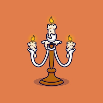Candle stand vector illustration on isolated object
