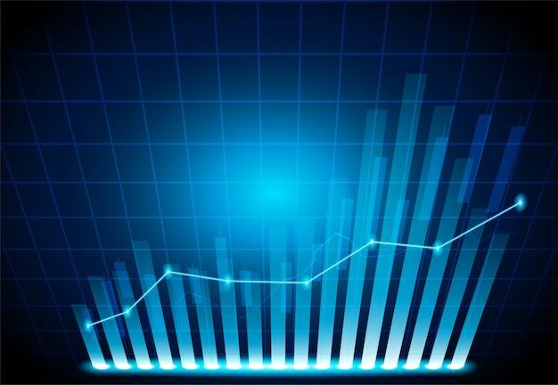 Графический график на свечной диаграмме фондового рынка