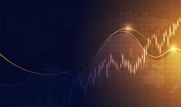 Candle stick graph chart of stock market investment trading bullish point bearish point
