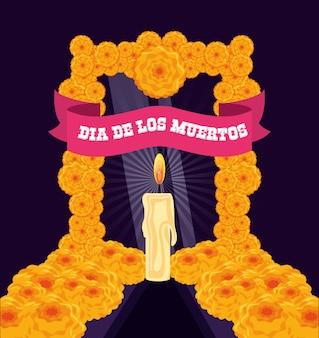 Свеча для украшения в день мертвых