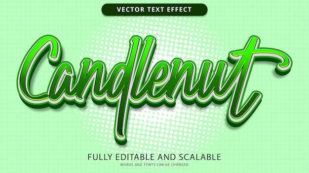 Редактируемый файл eps с текстовым эффектом candlenut