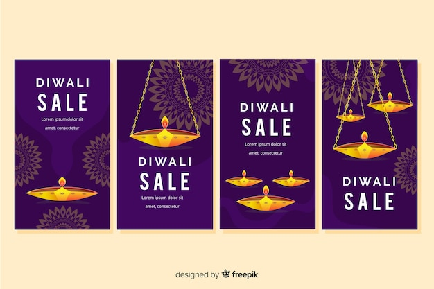 Candles of diwali event for stories collection