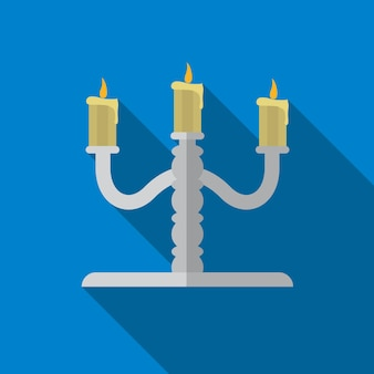 Candlestick flat icon illustration isolated vector sign symbol
