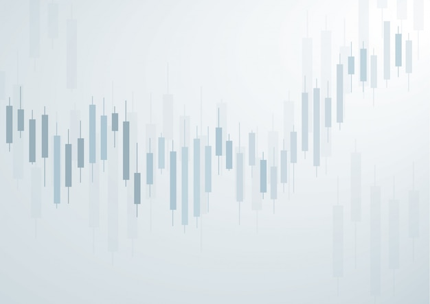 Candlestick stock exchange blue background