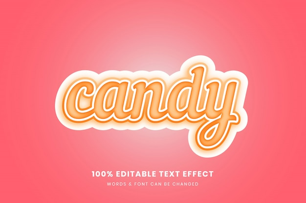 Candy 3d editable text effect