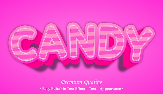 Candy 3d font style effect