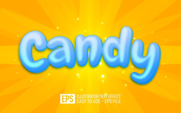 Candy 3d text editable style effect template