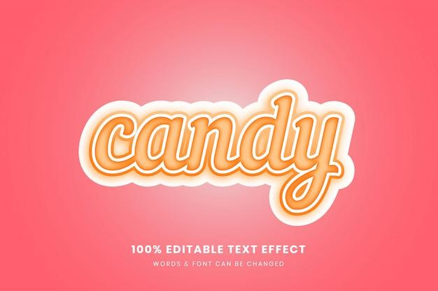 Candy 3d редактируемый текстовый эффект