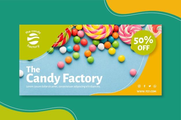 Modello di banner di caramelle
