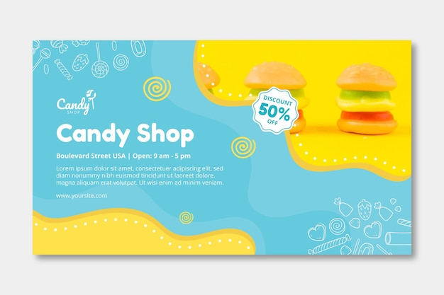 Candy banner template