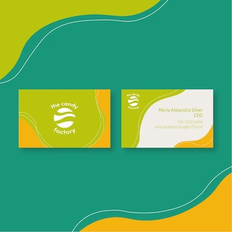 Candy business card template Premium Vector