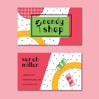 Candy business card template