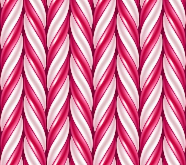 キャンディー杖の背景。シームレスパターン。図。