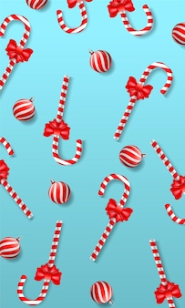 Candy cane christmas seamless pattern