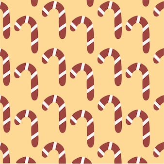 Candy cane pattern background social media post christmas vector illustration